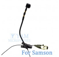 YAM Black Y608-C3N Instrument Microphone For SAMSON Wireless Microphone