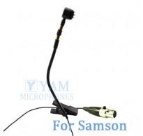 YAM Black Y608-C3N Instrument Microphone For SAMSON Wireless Microphone