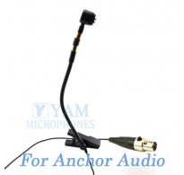 YAM Black Y608-C4AO Instrument Microphone For Anchor Audio Wireless Microphone