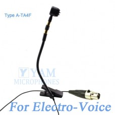 YAM Black Y608-C4AV Instrument Microphone For Electro-Voice Wireless Microphone