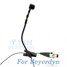 YAM Black Y608-C4BE Instrument Microphone For Beyer Wireless Microphone