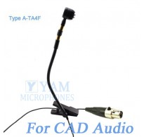 YAM Black Y608-C4CA Instrument Microphone For CAD Audio Wireless Microphone