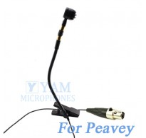 YAM Black Y608-C4Q Instrument Microphone For Peavey Wireless Mirophone