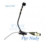 YAM Black Y608-C4Z Instrument Microphone For Nady Wireless Microphone