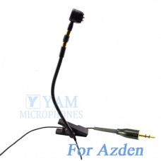 YAM Black Y608-C4AZ Instrument Microphone For Azden Wireless Microphone